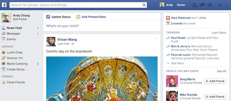 Facebook did it again: changing the news feed