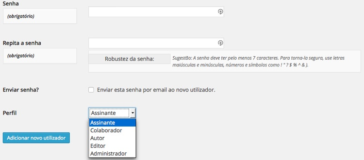 Utilizadores WordPress
